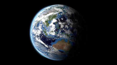 turning earth Stock Video Footage