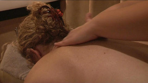 Massage for woman Stock Video Footage