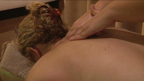 Massage for woman Footage