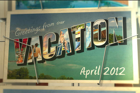 Postcard Vacation After Effects Template