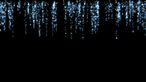 falling white particles fireworks at night,waterfall... Stock Video Footage