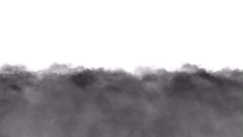 Running clouds and smoke Stock Video Footage