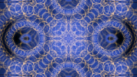 circle shaped chains spring,swirl totem pattern Stock Video Footage