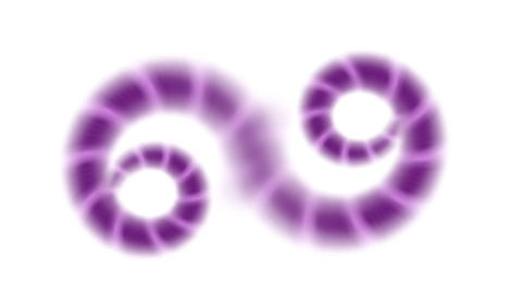 purple swirl chain,snake and nematode,earthworm Animation