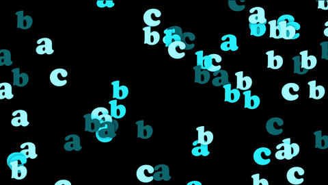 blue alphabet abc,cartoon letters paper card Stock Video Footage