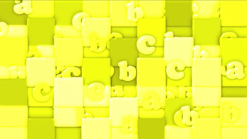 yellow cartoon letter paper card on square... Stock Video Footage