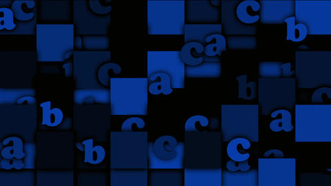 blue cartoon letter paper card on square mosaics,Children... Stock Video Footage
