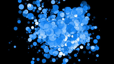 Blue Circle & Round,bubble & Blister,disco Neon Ba stock footage