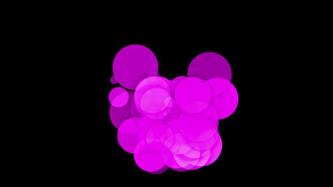 purple circle & round,bubble & blister,disco neon... Stock Video Footage