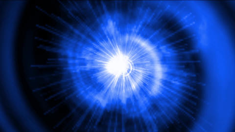 blue vortex space tunnel hole & rotation energy rays light Animation