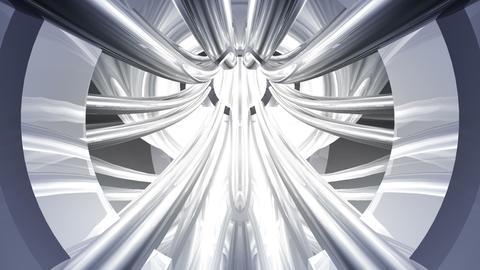 Tunnel tube metal C 01b HD Stock Video Footage