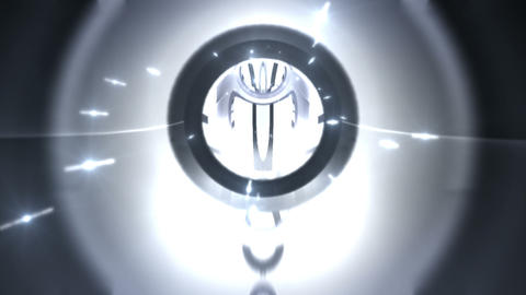 Tunnel tube metal C 01e 2 HD Stock Video Footage
