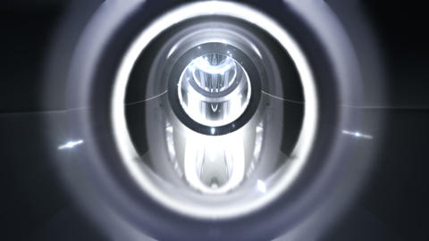 Tunnel tube metal C 01f 2 HD Stock Video Footage
