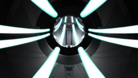 Tunnel tube metal C 01j HD Stock Video Footage