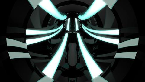 Tunnel tube metal C 01k HD Stock Video Footage