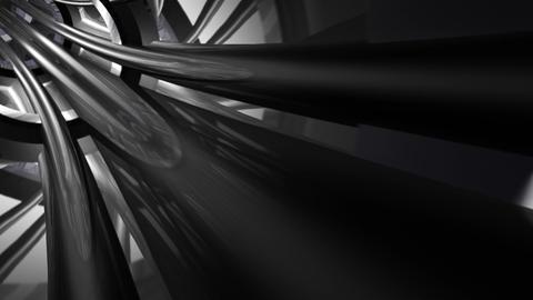 Tunnel tube metal C 02b HD Stock Video Footage