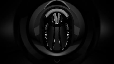 Tunnel tube metal C 02f HD Stock Video Footage