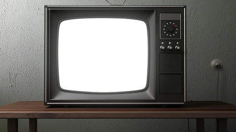 old TV Stock Video Footage