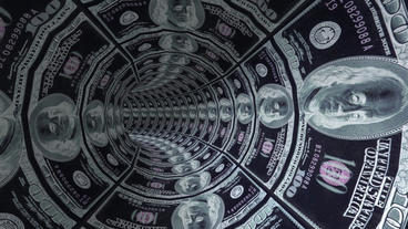 100 dollar background tunnel hole,florescent light Animation