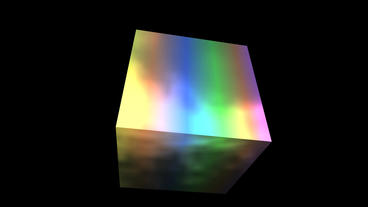 Rotation Rainbow Colors Cube,tech Web Virtual Back stock footage