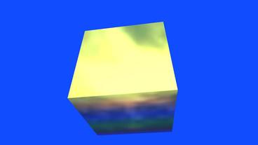 rotation rainbow colors cube,tech web virtual background Stock Video Footage