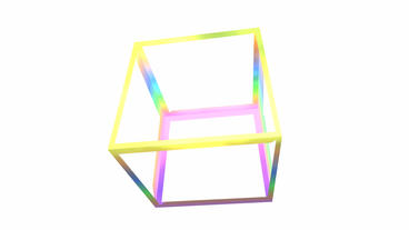 rotation rainbow colors cube frame,tech web virtual... Stock Video Footage