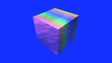 rotation rainbow colors cube,tech web virtual background Stock Video Footage
