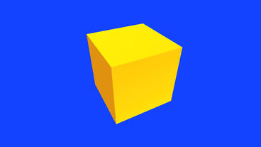 rotation 3d yellow cube,tech web virtual background Stock Video Footage
