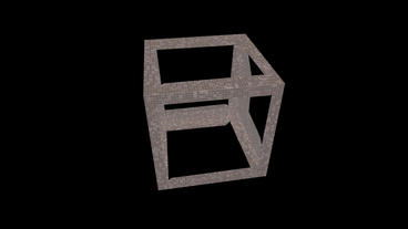 rotation cube frame,tech web virtual background Animation