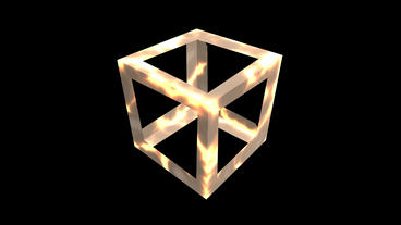 rotation cube frame,tech web virtual background Stock Video Footage
