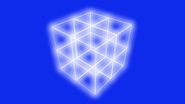 rotation grid cube frame,tech web virtual background Stock Video Footage
