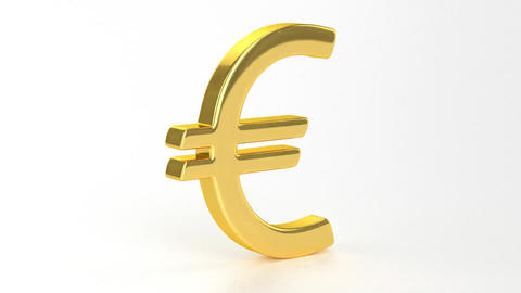 Golden Euro Sign Stock Video Footage