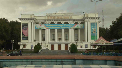 Aini Square Dushanbe Tajikistan 2 Stock Video Footage