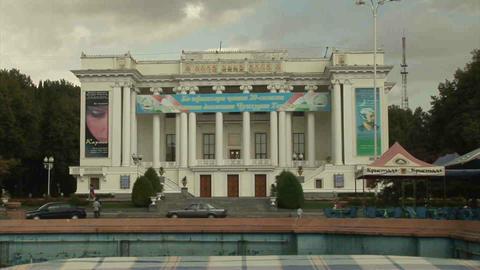 Aini Square Dushanbe Tajikistan 2 Stock Video Footage