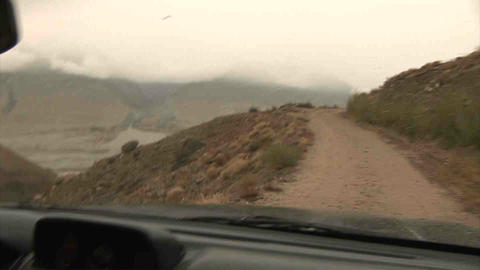 Driving in Wakhan Valley Rain Tajikistan & Afghani Footage