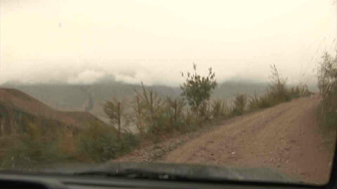 Driving in Wakhan Valley Rain Tajikistan 2 Stock Video Footage