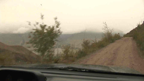Driving in Wakhan Valley Rain Tajikistan 2 Footage