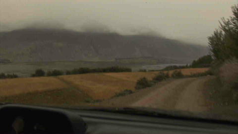 Driving in Wakhan Valley Rain Tajikistan 4 Footage