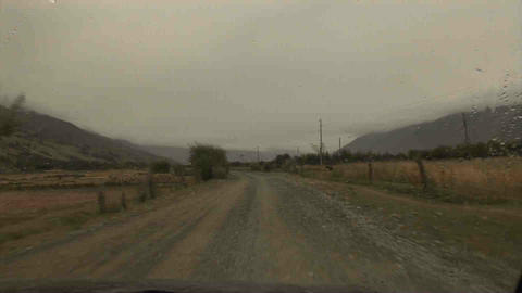 Driving in Wakhan Valley Rain Tajikistan 6 Footage