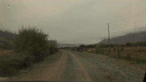 Driving in Wakhan Valley Rain Tajikistan 6 Stock Video Footage