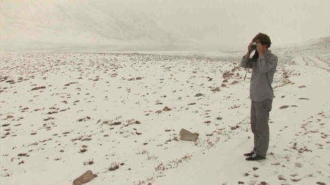 Guy taking picture View Analogue Snow Tajikistan Footage