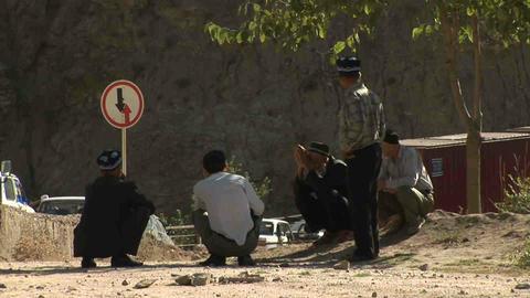 People Sitting Tajikistan Stock Video Footage