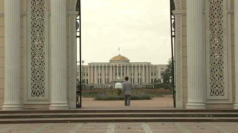 Rudaki Park Entrance Dushanbe Tajikistan 2 Stock Video Footage