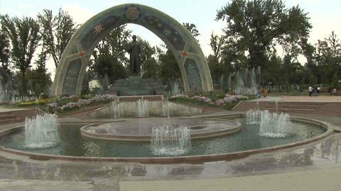 Rudaki Park Rudaki Statue Dushanbe Tajikistan 2 Footage