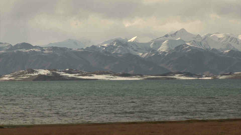 View on Karakul Lake Tajikistan Stock Video Footage
