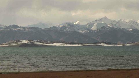 View on Karakul Lake Tajikistan Stock Video Footage