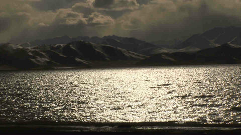 View on Karakul Lake Tajikistan 3 Stock Video Footage