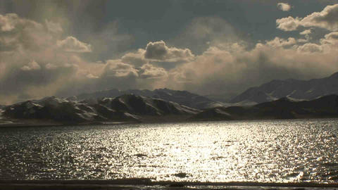 View on Karakul Lake Tajikistan 5 Stock Video Footage