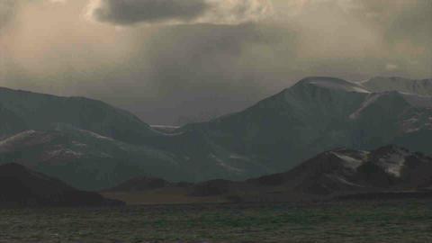 View on Karakul Lake Tajikistan 7 Stock Video Footage