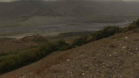 View Tilt Wakhan Valley Tajikistan & Afghanistan Stock Video Footage